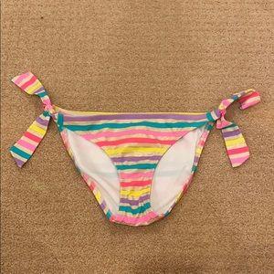 Victoria's Secret Rainbow Stripe Bikini Bottoms